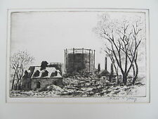 Arthur R. YOUNG (1895-1989) Original Signed Etching 'Long Island' 1924
