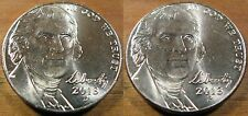 2013  P & D Jefferson Nickel's 2 BU Coin's From OBW H.E. String & Son Rolls