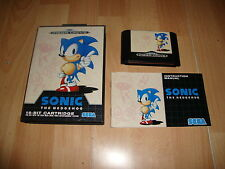 SONIC 1 THE HEDGEHOG PARA LA SEGA MEGA DRIVE 16-BIT CARTRIDGE USADO COMPLETO