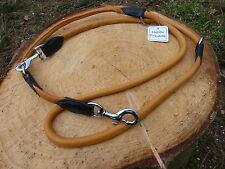 RUNDE LEDERLEINE 2-FARBIGE HUNDELEINE DOG LEAD ROUND 8 MM x 2 M