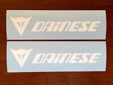 Dainese DECALS STICKERS 2 Pack Track Stunt Race Bike Jacket Glove Leathers WHITE