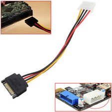 1 PC Male Power Cable to Molex IDE 4-pin Female Power Drive Adapter SATA 15-pin