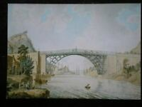 POSTCARD SHROPSHIRE THE IRON BRIDGE C1779 ENGRAVING BY M ROOKER
