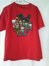 MINECRAFT Party Dragon Tshirt Youth XL Red/Multi Color Graphics Cotton RN129656