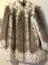lynx faux fur coat