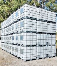 Steam Cleaned - 1000L Water Tank / IBC / POD - Container in Galvanized Cage