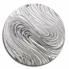 Silver Modern Round Metal Wall Art Accent Sculpture by Jon Allen - Silver Aurora