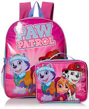 Paw Patrol Girls' Skye and Friends 15 Inch Backpack with Lunch Kit