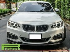 3D Type Carbon Fiber Front Bumper add on Lip Fits on 2014+ F22 M235i M Sportsrts