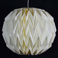 Beige / Ivory Round Geometrical Shaped Folding Paper Lantern Shade
