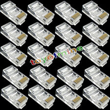 20pcs RJ45 CAT6 Modular LAN Plug Ethernet Gold Plated Network Connector