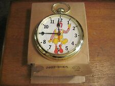 Mcdonalds wall clock pocket watch style NEW Old Stock Original Box Elgin 1978