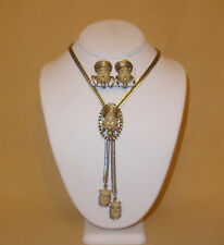 Selro Princess Face Lariat Necklace & Earrings Set