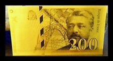 "★★ BILLET POLYMER  "" OR "" DU 200 FRANCS EIFFEL ● DESTOCKAGE ★★ REF2"