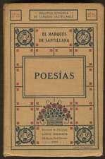 El Marques De Santillana Book Poesias Ed Louis-Michaud