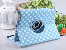 APPLE IPAD 2 / 3 / 4  360 ROTATING BOOK LEATHER COVER CASE STAND - iLITTLE- BLUE