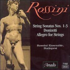 ROSSINI ENSEMBLE BUDAPEST STRING SONATAS 1-3 on Amadis CD