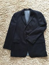 HUGO BOSS LORA PIANO 100% Cashmere Navy Blue Jacket Size 46L !!!NEW!!!