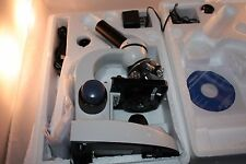AmScope M158C-E Compound Monocular Microscope, WF10x and WF25x Eyepieces, 40x-10