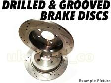 Drilled & Grooved REAR Brake Discs For SUBARU IMPREZA Saloon 2.0 Turbo GT 98-00