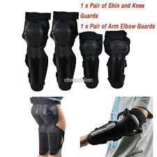 4 Pc Protective Gear Pads Motorcycle Knee Guards Racing Protector Shin Arm Elbow