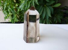 "Smoky Quartz Generator Point w/ Ghost Phantoms, 3 3/16"" SQG011"