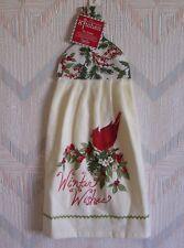Cardinal Bird Terry Tie Towel Kay Dee Botanical Cardinals Pattern Kitchen Towel