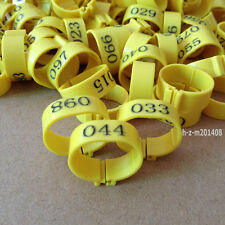 (Yellow) 001-100 Numbered Chicken Leg Bands 18mm Chicken Rings