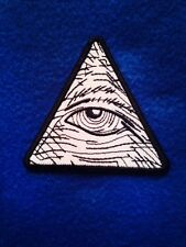 EYE OF PROVIDENCE IRON ON PATCH 2.5 X 2.5 PYRAMID ILLUMINATI MASONIC masons
