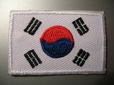 South Korean Flag Small Iron On/ Sew Cloth Patch Badge Appliqué Korea 대한민국 大韓民國