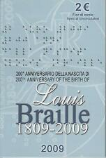 2 Euro commémorative de Italie 2009 Brillant Universel (BU) - Louis Braille