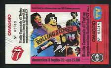 1982 Rolling Stones Tattoo You Tour Unused Full Concert Ticket Turin Italy