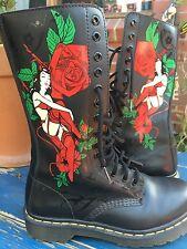 Doc Martens Limited Edition 'Burlesque' Design Boots Size AU 6 UK 4