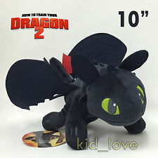 How to Train Your Dragon Toothless Plush Soft Toy Night Fury Stuffed Animal 10""