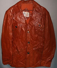 1970's -California- Vintage MOD Men's Leather Coat/Jacket
