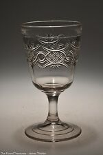 c. 1880 No. 79 CHAIN WITH STAR by Bryce, Walker & Co CRYSTAL  Goblet