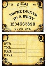 8 Halloween Ouija party invitations with envelopes