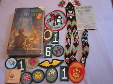 Vintage Boy Scout Collection, Patches, 1948 Manual, Scarf Slide and More