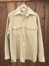 VINTAGE WOOLRICH MENS TAN TWEED WOOL BLEND SHIRT/JACKET Large