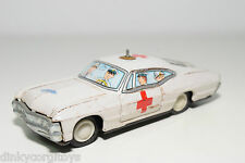 TINPLATE BLECH JAPAN FORD DODGE CHEVROLET CAR AMBULANCE EXCELLENT CONDITION
