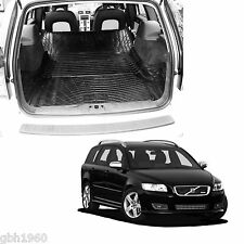 Volvo V50 tailored heavy duty antislip rubber boot liner load area dog mat pair