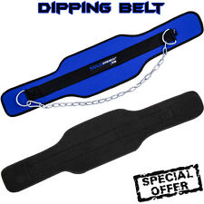 Weight Lifting Dipping Belt Neoprene Fitness Exercise Gym Body Strap With Chain