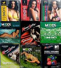 27 pcs Multi Company sampler COMBO shipping Concealed Condom KS Manforce Moods