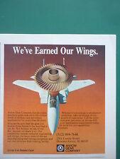 5/1989 PUB ARROW GEAR COMPANY AEROSPACE INDUSTRY PRECISION GEARS F-15 EAGLE AD