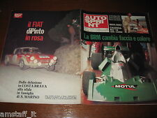 AUTOSPRINT 1974/9=BRM F1=PINTO FIAT-ABARTH 1850 RALLY