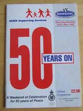 DONINGTON SOUVENIR MAY 1995 SSAFA 50TH ANNIVERSARY END OF WWII AIRCRAFT FLIGHT