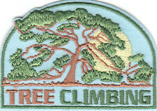 """""""TREE CLIMBING"""" - Iron On Embroidered  Patch/Sport,  Fun, Games, Competition"""