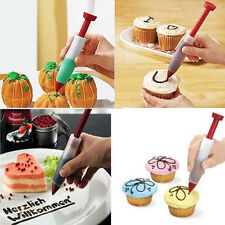 New Cake Cookie Pastry Cream Chocolate Decorating Silicone Syringe Pen 20x100mm
