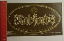 ADESIVI/Sticker: Radfords Tobaccos pipes Accessories (20071656)