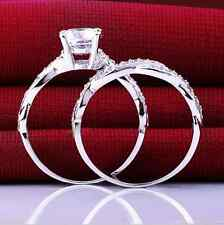 D/VVS1 Diamond Engagement Ring White Gold Bridal Jewelry 2 Carat Round